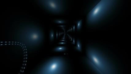 Wall Mural - Driving through digital lights tunnel