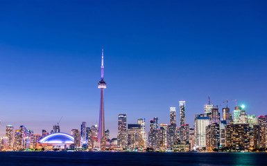 Wall Murals Toronto Toronto city skyline at night, Ontario, Canada