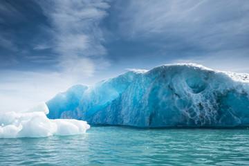 Wall Mural - Jokulsarlon glacier ice lagoon, Iceland