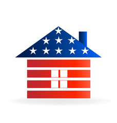 Logo Patriotic House Vector Design