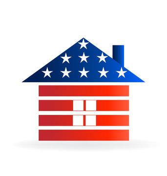 Logo Patriotic House Vector Design