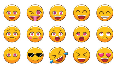 Emoji vector set clipart design