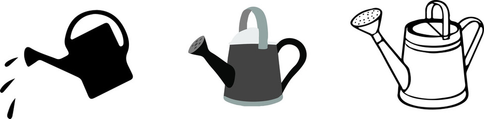 watering can icon on white background