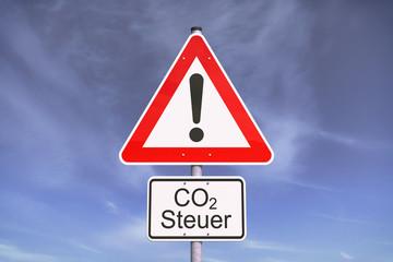 CO2 Steuer - Verkehrsschild
