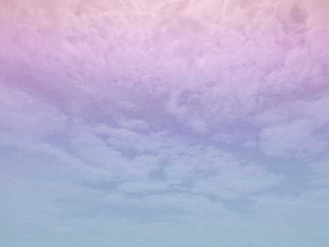 Sky and cloud subtle background with a pastel purple gradient.