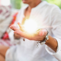 Receiving Positive Energy, Practitioner Meditating on Receiving Ability