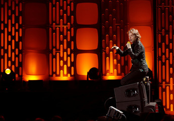 Cage the Elephant lead singer Matt Shultz performs during the iHeartRadio Music Festival at T-Mobile Arena in Las Vegas