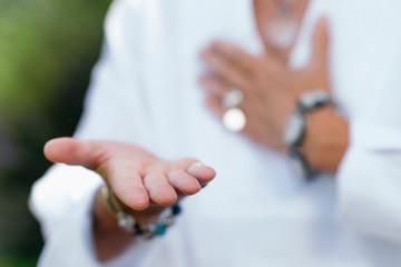 Fototapeta Giving Ability Meditation, Hands Gesture obraz