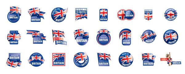 United Kingdom flag, vector illustration on a white background Fotomurales