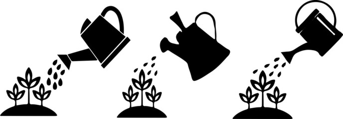 watering can icon on white background Fototapete