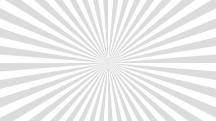 Obraz Sun rays background. Gray radiate sun beam, burst effect. Sunbeam light flash boom. Template poster sale. Sunlight star, sunrise glow burst. Solar radiance glare, retro design. Vector illustration - fototapety do salonu