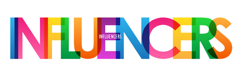 INFLUENCERS colorful vector typography banner Wall mural