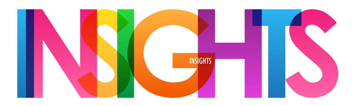 INSIGHTS colorful vector typography banner