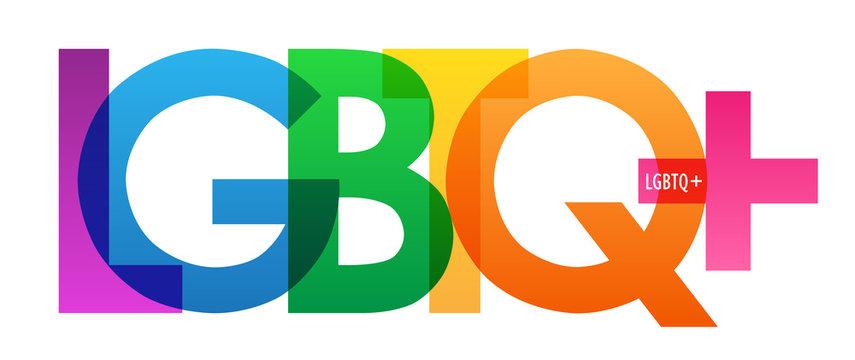LGBTQ+ rainbow vector typography banner