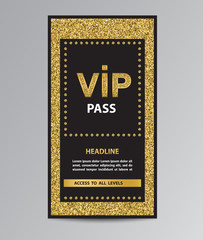 VIP pass admission with glitter