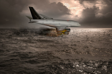 Passagierflugzeug stürzt in das Meer