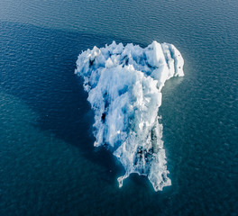 Fototapete - Aerial view of Jokulsarlon glacier ice lagoon, Iceland