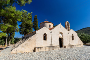 Byzantine Church Panagia Kera in Kritsa, Crete, Greece