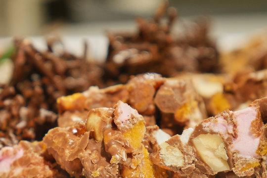 Rockyroad closeup with chocolate and marshmello