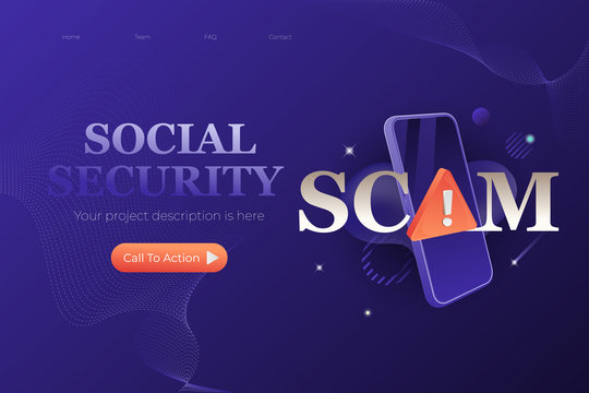 Social Security Scam Web Page Design Template