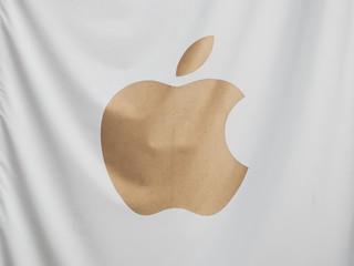 LONDON - SEP 2019: Apple sign