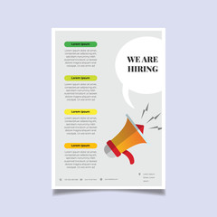 We are Hiring Poster or Banner Design. Job Vacancy Advertisement Concept