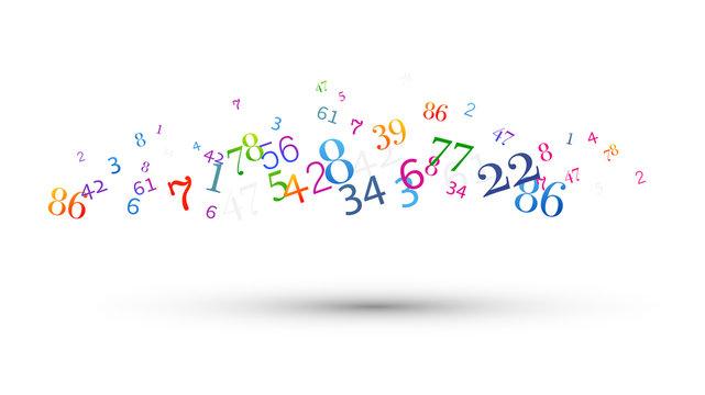 numeri, nuvola di numeri, confusione,