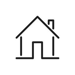 House logo icon linear - stock vector