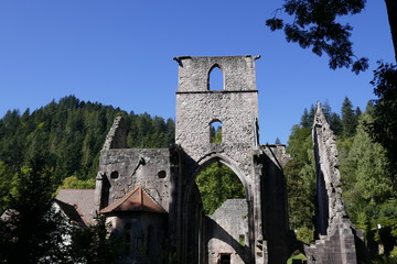Ruined monastery in the Black Forest