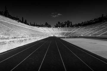 The runway of the Panathenaic Stadium