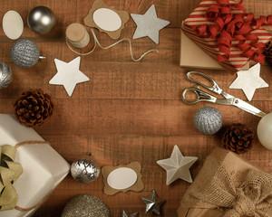 Rustic Christmas Wood Background