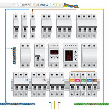 electric circuit breaker set