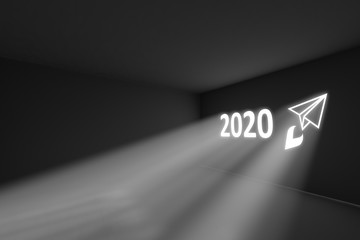 2020 rays volume light concept 3d illustration