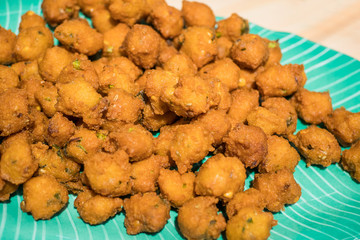 Indian traditional food - Mini Dhal Fritters