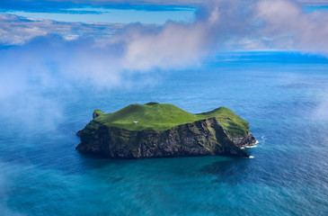 Printed roller blinds Island Aerial view of beautiful small island in Iceland