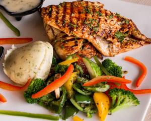 BBQ Chicken Breast with Salad