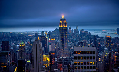 Fotobehang New York Newyork city at night, New York, United Staes of America