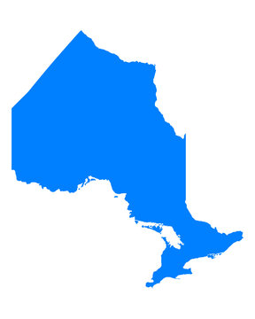 Karte von Ontario