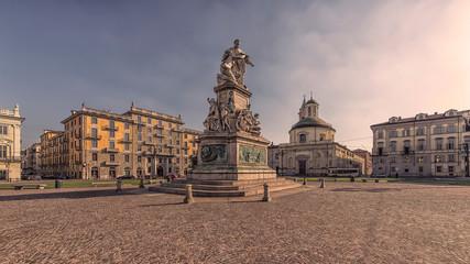 Wall Mural - Carlo Emanuele II square in Turin city, Italy