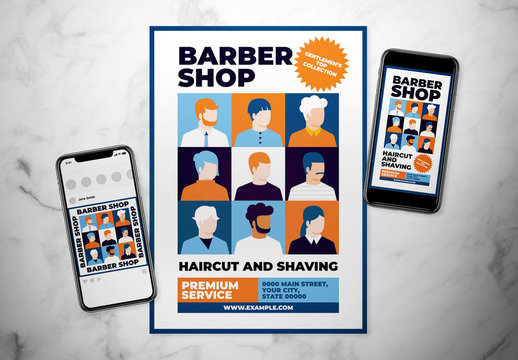 Graphic Barbershop Flyer Layout