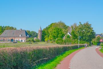 Dutch street in village ooij netherlands