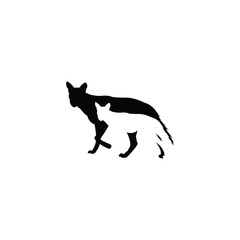Vector Design Of Wolf Silhouettes