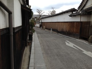 Traditional Houses along with Historical Street in Japan
