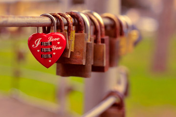 Locket of love - heart shaped padlock
