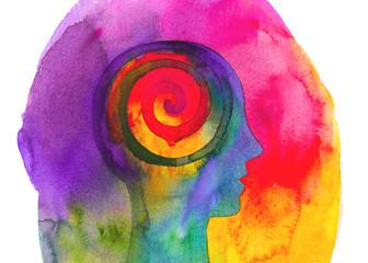 Poster Spiraal Disegno colorato concettuale yoga e meditazione