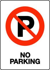 No Parking Sign , vector illustration