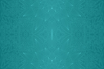 Art with blue abstract seamless linear pattern