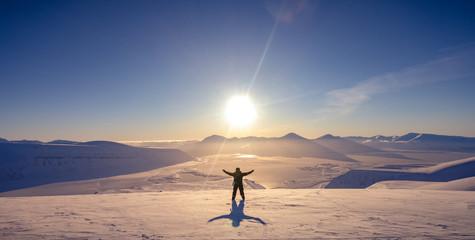 Svalbard sunset Fototapete