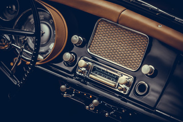 Photo sur Plexiglas Vintage voitures Classic vintage car stereo