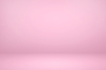 Empty pink studio room with light and shadow abstract background.